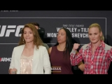 UFC 228: Nicco Montaño vs. Valentina Shevchenko Media Day Staredown - MMA Fighting