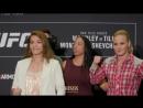 UFC 228: Nicco Montaño vs. Valentina Shevchenko Media Day Staredown - MMA Fighting