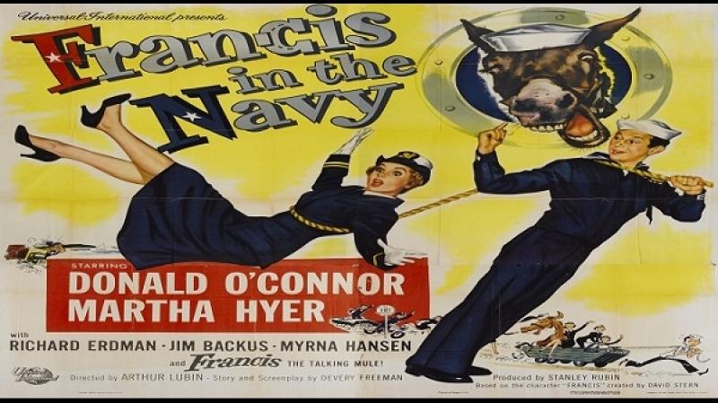 1955 Francis in the Navy -Arthur Lubin - Donald OConnor, Martha Hyer, Richard Erdman
