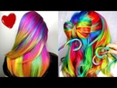 10 best Ombre Rainbow hair dye transformations video collection @asilsmsk