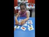 Вот так наша пятилетняя ученица Аделина с легкостью запоминает 12 карточек!😃И это только начало!!!