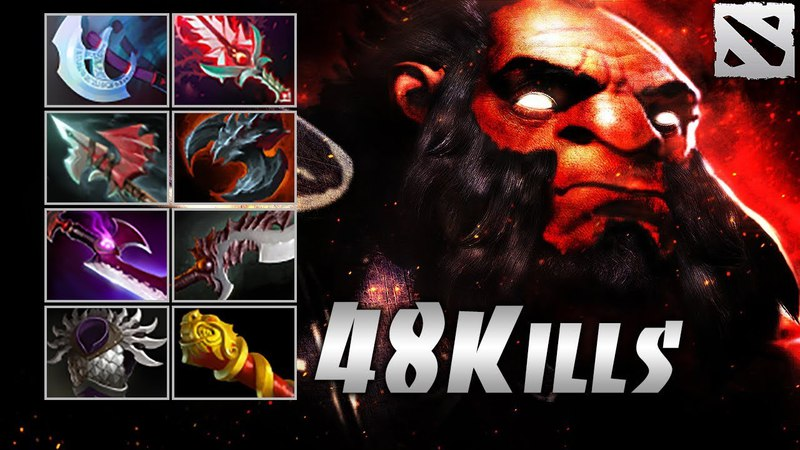 AXE 48 FRAGS OWNAGE Highlights Dota 2