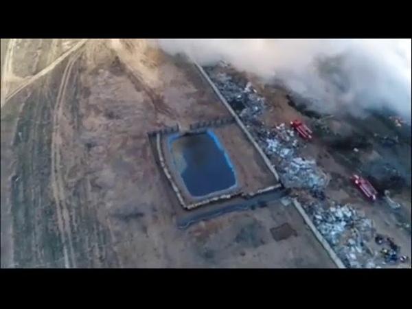 Большой пожар с большой высоты — дрон МЧС снял всё на видео 03