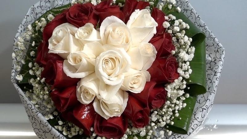 Making Heart Shaped Rose Bouquet