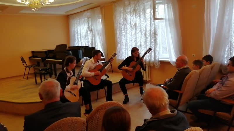 Тоня, Дима, Ирина на Межрегиональном конкурсе 31 марта 2019 г - 1 место