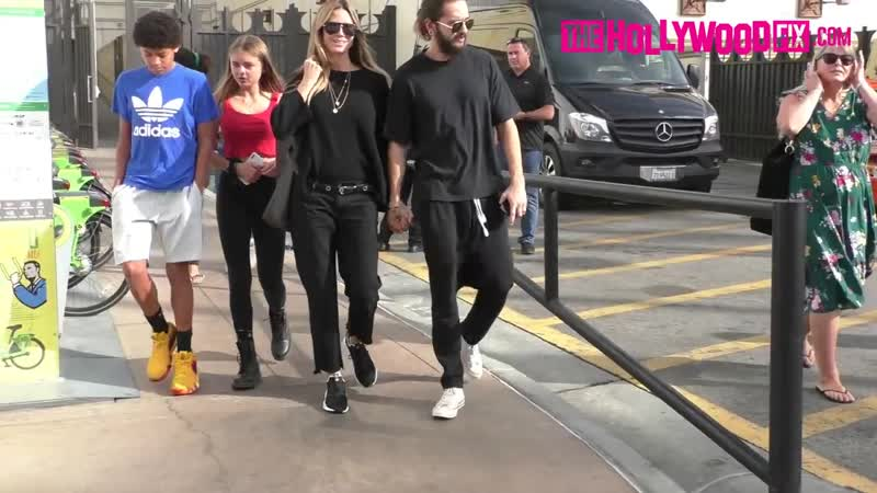 Heidi Klum Tom Kaulitz Have Lunch With The Kids At Urth Caffe Before Shopping At The Grove