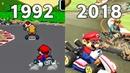 Evolution Of Mario Kart Games 1992 - 2018