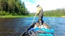 Защита винта и редуктора лодочного мотора в действии.