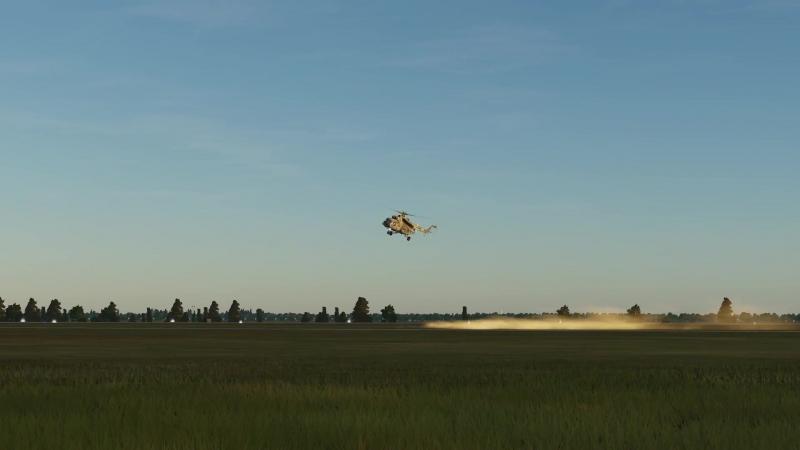 Тренировка пилотажа на Ми-8