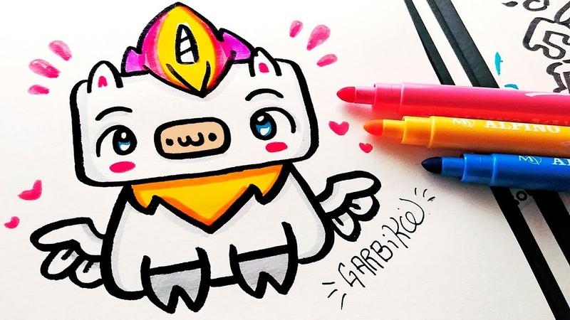 How To Draw Kawaii Unicorn - Doodles by Garbi KW