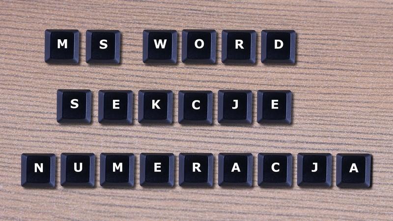 Word - numeracja od konkretnej strony
