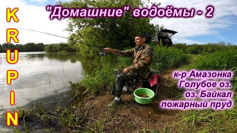 На домашних водоёмах г.Орехово-Зуево. к-р Амазонка, Голубое оз., оз.Байкал, пожарный пруд.