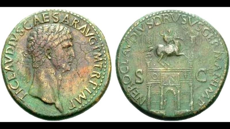 Сестерций 41 н э 42 н э Клавдий Монета Римской Империи Claudius Sestertius 41 AD 42 AD