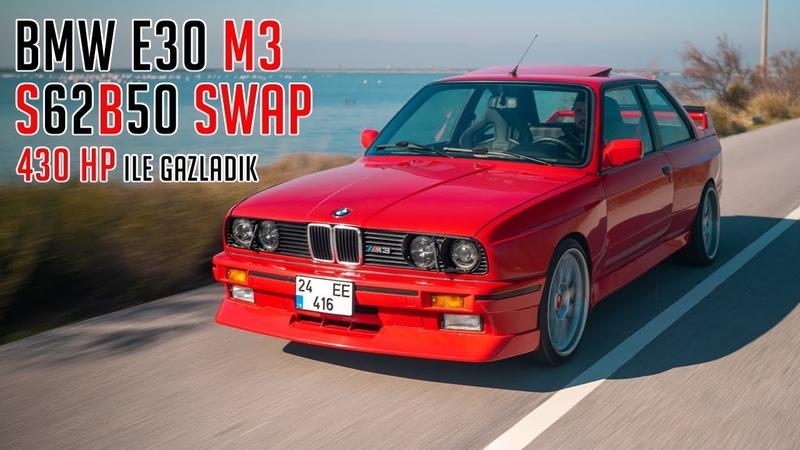 BMW E30 M3 S62 V8 ile Gazladık Alpha-N Yazılım 100-200 KM Ne Kadar Hızlı Test Ettik