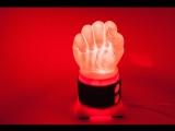 Как сделать светильник в виде Кулака из пластика часть 1
