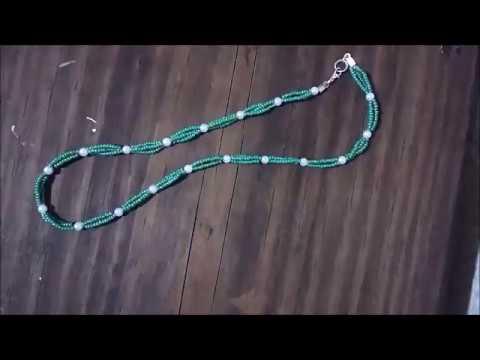 DIY collar de chaquiras