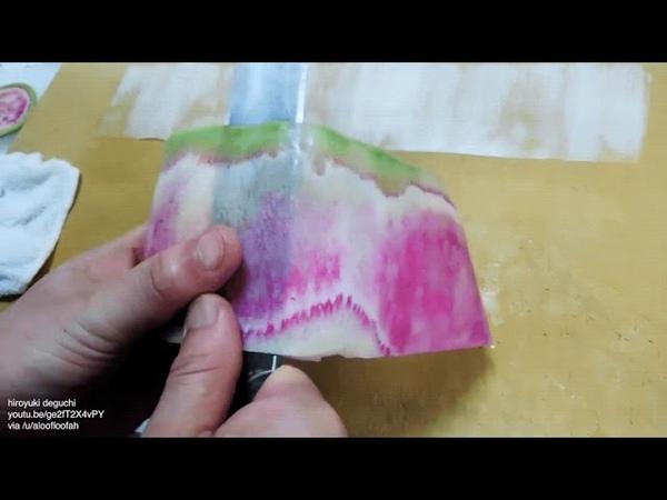 Цветок из арбузного редиса