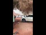 Hailstorm  in Saudi Arabia.