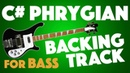 C Phrygian Backing Track For Bass