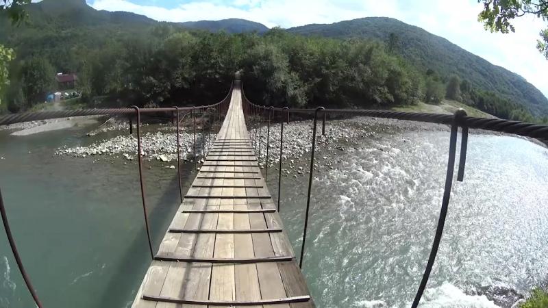 Катуха. Псебай. День 2. Никитинский мост через реку (2018/09/09)