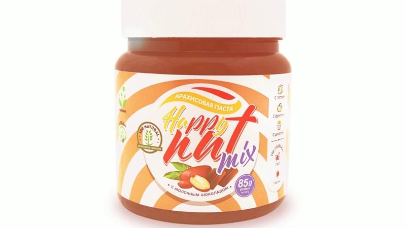 Happy Nut арахисовая паста с молочным шоколадом 500 гр