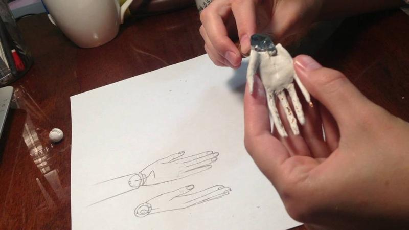 Шарнирная кукла лепка кисти руки и запястного шарнира