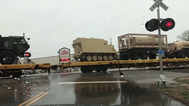 Huge Military Train Headed North CSX