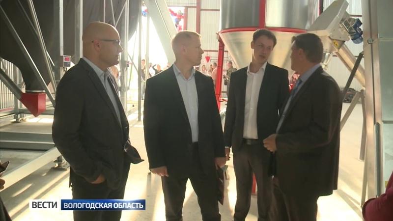 В Вологодском районе открылся цех по производству комбикормов
