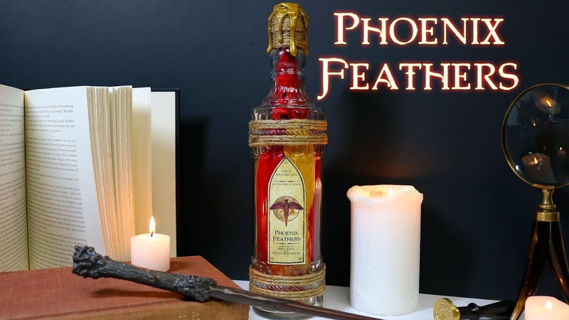 Phoenix Feathers DIY Prop Bottle Potion Ingredient Prop Potion Bottle Harry Potter Inspired