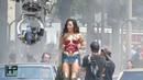 Gal Gadot Shoots Stunt Scene for 'Wonder Woman 1984'