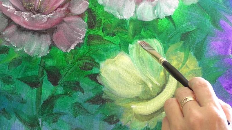 Видео-анонс МК «Романтическая цветочная композиция с золочением»