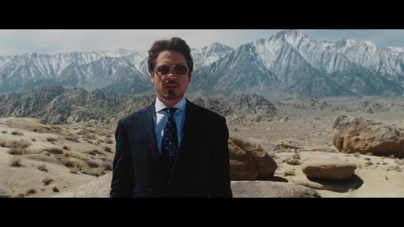 Тони Старк демонстрирует действие ракеты Иерихон - Железный человек (Iron Man)