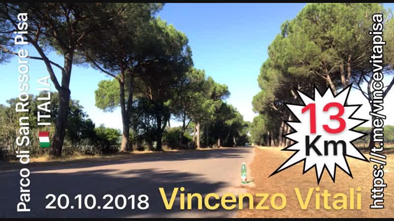 20.10.2018 Corsa 13 km, Parco di San Rossore (Pi) Italia 🇮🇹