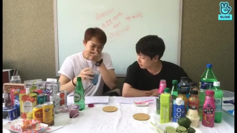 VLIVE with Benji and Minpyo 22.06.2018