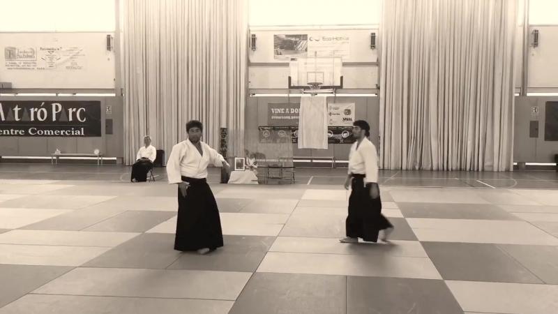 Shu Kitaura 6º Aikikai. Mataró 2017.
