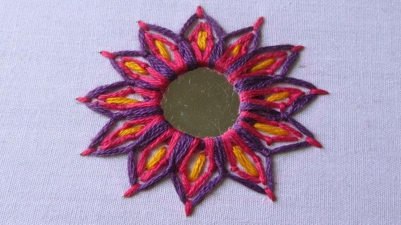 Hand Embroidery Mirror Work Stitch Shisha Work Hand Embroidery Designs 20