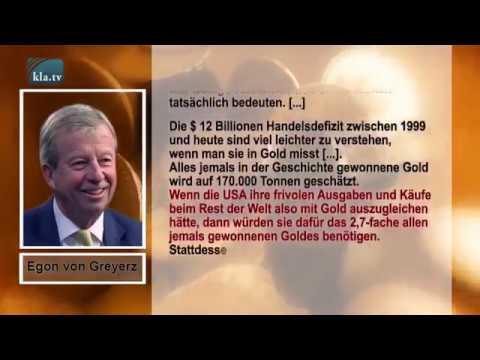 Egon von Greyerz:USA schulden der Welt fast dreimal mehr Gold, als es auf der Welt gibt