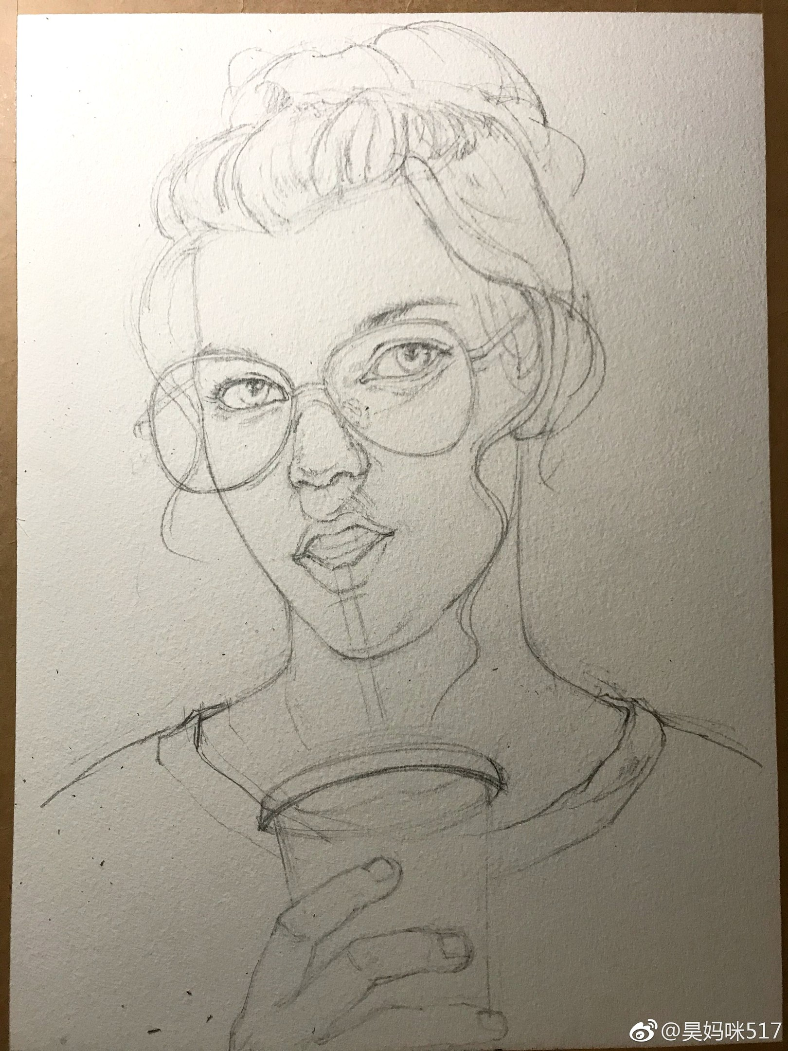 Как рисовать поэтапно портрет девушки