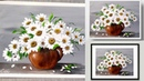 SIMPLE Acrylic Painting Demonstration Daisies WHITE Flower Painting Easy Painting