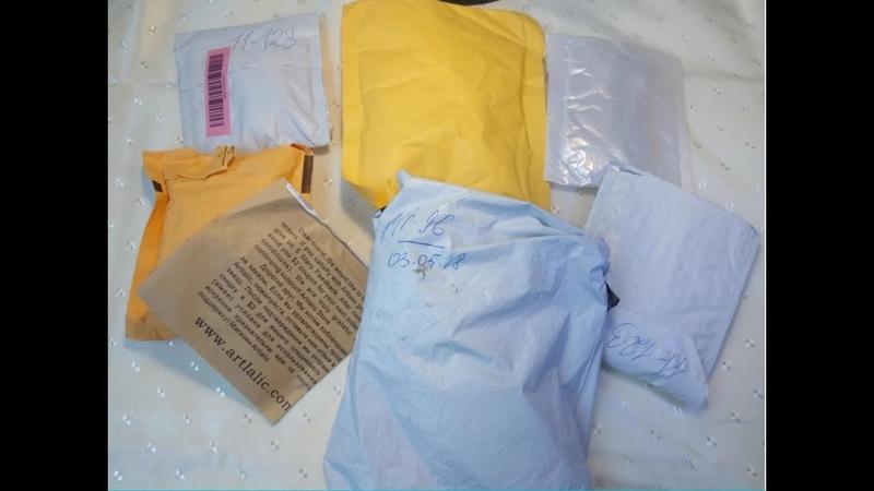 Распаковка посылок с AliExpress Гель лаки FairyGlo Инфракрасный термометр лаки для стемпинга