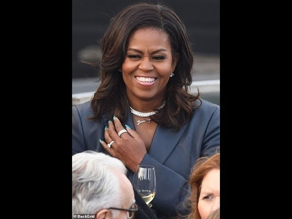 Notre Dame Burns As Michelle Obama Floats By