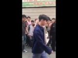 180411 EXO Lay Yixing @ Go Fighting Filming