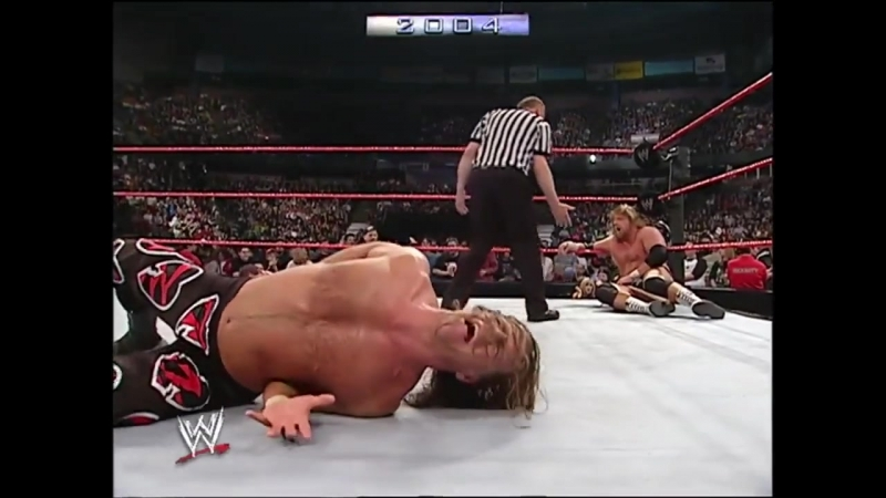 Chris Benoit vs. Triple H vs. Shawn Michaels - Backlash 2004