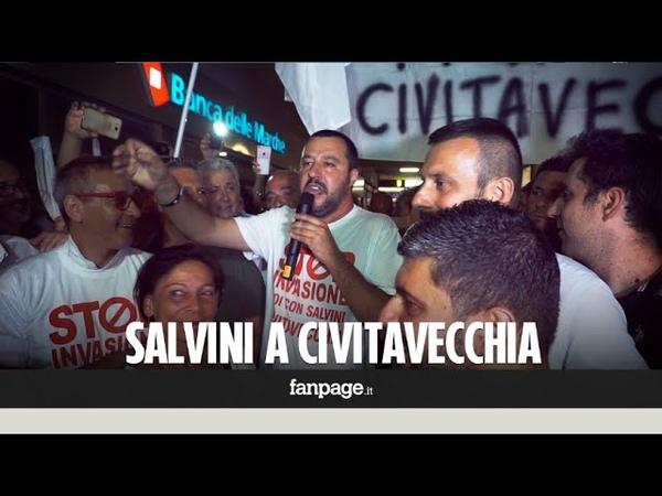 Salvini e Casapound contro i migranti a Civitavecchia. Il Sindaco (M5s): Oggi città malfrequentata