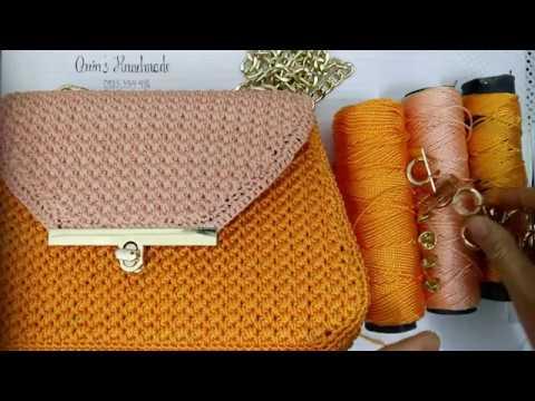 How to crochet Orange bag part 1/2