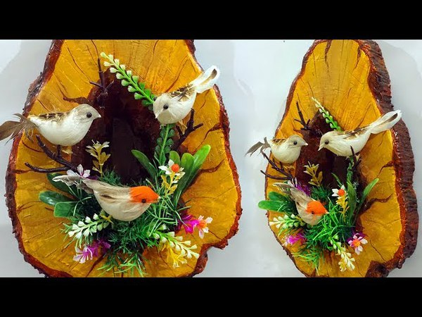 Very Realistic! How to Make Birds Nest Craft Using Clay | DIY Birds Nest Wall Décor Craft