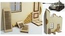 Modellbau Haus Hausruine Teil 1 / für mein Tiger 1 Winter Diorama scale 135