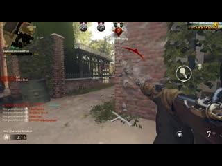 My quadruple head-shot snipe - one lucky s.o.b! cod wwii