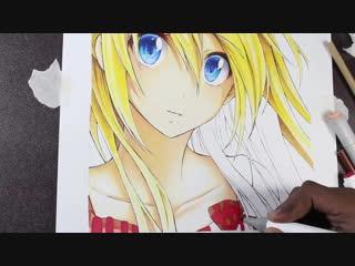 Drawing Chitoge Kirisaki | Художник-- Shinigami Arts