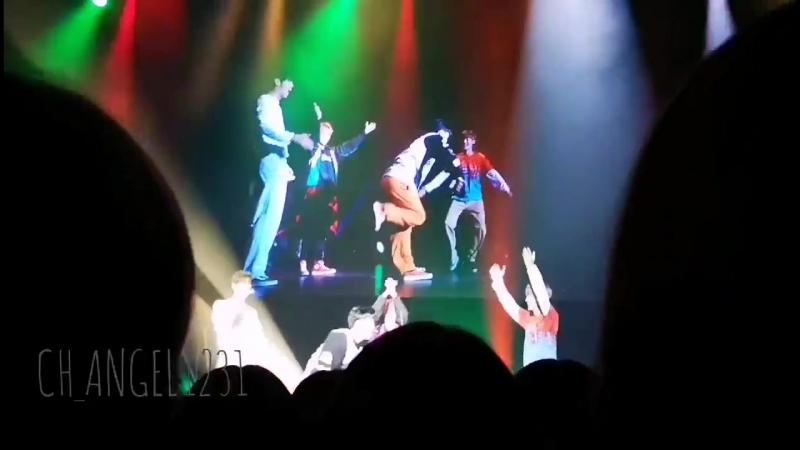 22.09.18 Второй концерт UNB в Осаке. Чан, Филдог, Ыйджин, Джун - танцевальный юнит